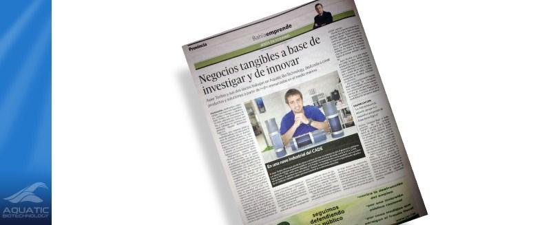Aquatic BioTechnology nuevamente en el Diario de Cádiz